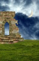 Premade Background Wall Moon by RavenMaddArtwork