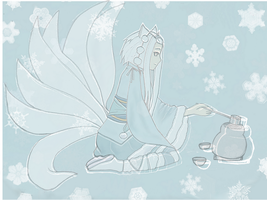 Aethra's tea Ceremony, Frozen pic by Kittylyn-Donut