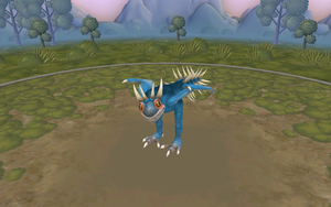 my Deadly Nadder in Spore by moonofheaven1