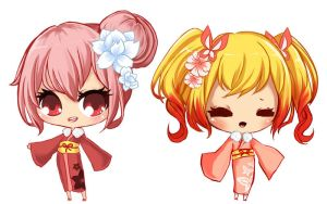 two chibis by AsianPanties