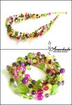 Spring necklace by Amambada