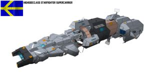 Highside-class starfighter supercarrier by Shoguneagle