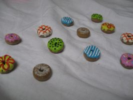 miniature donuts by Snozna