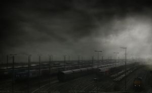 Trains in the mist by RobinRoels