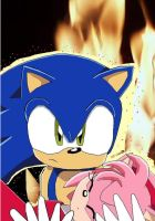 EDIT: Sonic saves Amy by Oribella