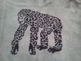 Tribal Chimp by ColourCascadeFabrics