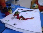 Little Chinese dragon (completed) by lihnida