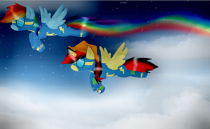 .:Request:. Pika and Rainbow Dash as Wonderbolts by Real-RainbowDash