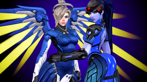Overwatch (11b - Mercy and Widowmaker) by AdeptusInfinitus