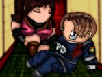 Leon and Claire from RE2 by FallenCryingDevil