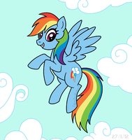 Rainbow Dash Airborne by louisalulu