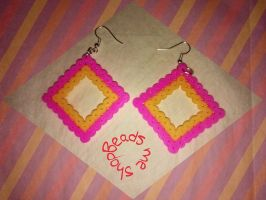 Square Earrings by TemariGraphic