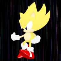 Classic Super Sonic .Pose-Copy. by Starruka