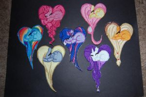 My Little Pony Heart Patches by RabbitTales