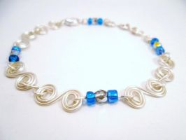 Swirl Wire Bracelet Color 2 by SerenityinChains