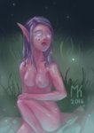 Elven lady accidentally lost her clothes by Tehenauin