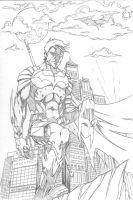 Dick Grayson pencils by Merrk