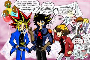 WELCOME NEW YUGIOH CAST- by slifertheskydragon