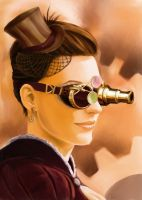 Steampunk Portrait by Dinoforce