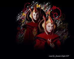 Wallpaper Queen Amidala by DarthWapoe