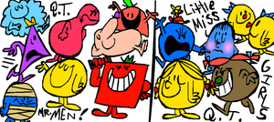 Mr. Men and Little Miss Girls by DeeIsBrowsing