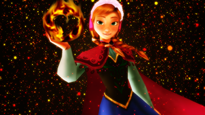 Anna the fire princess by RinnyThePony