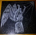 4x4 Angel Coaster by ckatt01