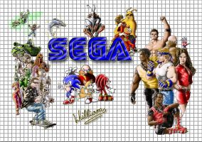 Sega Mega Drive classic days by WilliamLink