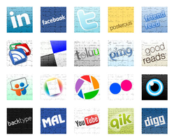 SOCIAL MEDIA ICON SET by socialbeaker