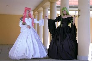 C.C. and Euphie Code Geass by Nandeena
