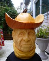 Cowboy Pumpkin Carving by Jam-Butty