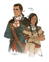 haytham and ziio by freestarisis