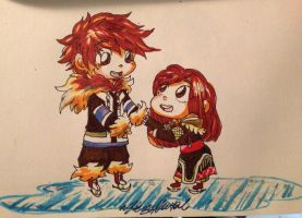 Inuit Jack and Emma inktober by HezuNeutral