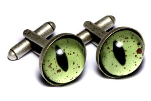 Steampunk Cuff Link green eye by CatherinetteRings