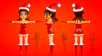Mrs. Claus Lady Cartoon 3D by sanderndreca