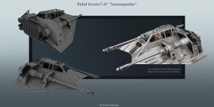 Rebel T-47 Snowspeeder by AndyPollingtonArt