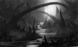 Quick environment sketch8grey by Lyno3ghe