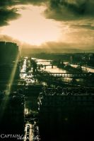Sunset on Paris by CaptainSchroedster