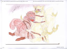 Pokemon Vulpix And Ninetales by sonic-the-cool-man