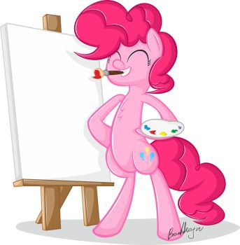 Pinkie the Artist by bartkoju