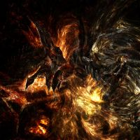 Fire colossus - Flaming gimp by STUVash