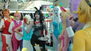 Adventure Time characters in a Playboy Bunny/Maid by trivto