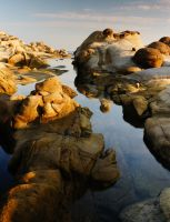 Rock formations at Heping Island by Momo-Zhao