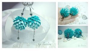 Tsumami Kanzashi: earrings by serlen