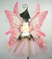 Pink Flower Fairy Back by glittrrgrrl