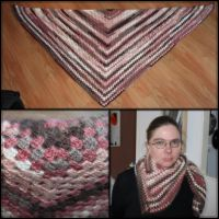 Crochet: Triangle scarf by Engelina-c