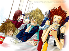 KH- Eating together by AnaKris