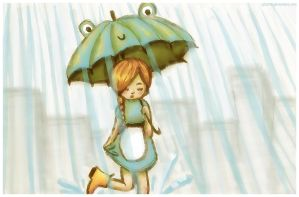 Rainy day girl by gbL078