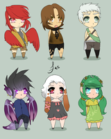 Adoptable Chibi Set by Fraught-Adopts