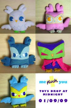 All Five Owl Plush by fuish